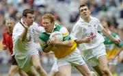 28 May 2006; Neville Coughlan, Offaly, in action against Ronan Sweeney, left, and John Doyle, Kildare. Bank of Ireland Leinster Senior Football Championship, Quarter-Final, Kildare v Offaly, Croke Park, Dublin. Picture credit; Aoife Rice / SPORTSFILE