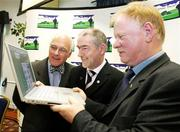 31 May 2006; At the official launch of the Cormac Trust website from left, Professor William McKenna of the London Heart Hospital Mickey Harte and Brendan McAnallen. The website is an information point for people from all over Ireland and far beyond about the Cormac Trust Fund which was setup after the sudden death of GAA star Cormac McAnallen on the 2nd March, 2004, it covers Cormacs life, career and death and the heart conditions which so cruelly cut him and so many other very healthy and talented young people down. It was largely due to the death of Cormac, Irish youth rugby international John McCall and other subsequent cases that the Irish public became aware of the issue of sudden cardiac death among young people. Wellington Park Hotel, Belfast. Picture credit; Oliver McVeigh / SPORTSFILE