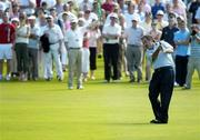 4 June 2006; Sam Torrance, Scotland, takes his second shot from the 18th fairway during the final round of the AIB Irish Seniors Open. Fota Island Golf Club, Co. Cork. Picture credit: Pat Murphy / SPORTSFILE