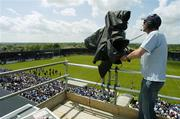 4 June 2006; A general view of a TV camera on a gantry before the game. Bank of Ireland Leinster Senior Football Championship, Quarter-Final, Longford v Dublin, Pearse Park, Longford. Picture credit; Brendan Moran / SPORTSFILE