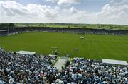 4 June 2006; The Dublin team run out onto the pitch before the game. Bank of Ireland Leinster Senior Football Championship, Quarter-Final, Longford v Dublin, Pearse Park, Longford. Picture credit; Brendan Moran / SPORTSFILE