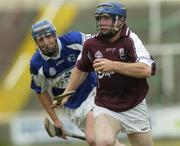 17 June 2006; Damien Hayes, Galway, in action against Joe Phelan, Laois. Guinness All-Ireland Senior Hurling Championship Qualifier, Round 1, Laois v Galway, O'Moore Park, Portlaoise, Co. Laois. Picture credit: Brian Lawless / SPORTSFILE
