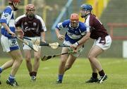 17 June 2006; Michael McEvoy, Laois, in action against David Forde, Galway. Guinness All-Ireland Senior Hurling Championship Qualifier, Round 1, Laois v Galway, O'Moore Park, Portlaoise, Co. Laois. Picture credit: Brian Lawless / SPORTSFILE