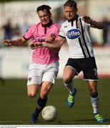 29 May 2016; Dane Massey of Dundalk in action against Eric Molloy of Wexford Youths in the SSE Airtricity League Premier Division match between Dundalk and Wexford Youths at Oriel Park, Dundalk, Co. Louth. Photo by Paul Mohan/Sportsfile