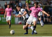 29 May 2016; Patrick McEleney of Dundalk in action against Eric Molloy of Wexford Youths in the SSE Airtricity League Premier Division match between Dundalk and Wexford Youths at Oriel Park, Dundalk, Co. Louth. Photo by Paul Mohan/Sportsfile