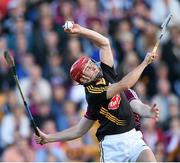 28 June 2014; David Herity, Kilkenny, in action against Conor Cooney, Galway. Leinster GAA Hurling Senior Championship, Semi-Final Replay, Kilkenny v Galway. O'Connor Park, Tullamore, Co. Offaly. Picture credit: Stephen McCarthy / SPORTSFILE