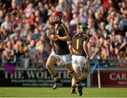 28 June 2014; David Herity, left, Kilkenny, replaces the injured Eoin Murphy, during the game. Leinster GAA Hurling Senior Championship, Semi-Final Replay, Kilkenny v Galway, O'Connor Park, Tullamore, Co. Offaly. Picture credit: Piaras Ó Mídheach / SPORTSFILE