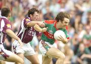 16 July 2006; Billy Joe Padden, Mayo, in action against Diarmuid Blake, Galway. Bank of Ireland Connacht Senior Football Championship Final, Mayo v Galway, McHale Park, Castlebar, Co. Mayo. Picture credit: Pat Murphy / SPORTSFILE