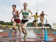 22 July 2006; Eventual winner Eugene O'Neill, Crusaders A.C., left, clears the water splash during the Men's 3000m steeplechase event alongside Mark Kirwan, Raheny Shamrock A.C., 385, at the AAI National Senior Track and Field Championships. Morton Stadium, Santry, Dublin. Picture credit: Pat Murphy / SPORTSFILE