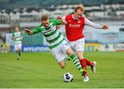 5 July 2014; Simon Madden, Shamrock Rovers, in action against Derek Foran, St Patrick's Athletic. SSE Airtricity League Premier Division. Shamrock Rovers v St Patrick's Athletic. Tallaght Stadium, Tallaght, Co. Dublin. Picture credit: Ashleigh Fox / SPORTSFILE