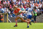 6 July 2014; Marian McGuinness, Armagh, in action against Niamh Kindlon, Monaghan. TG4 Ulster GAA Ladies Football Senior Championship Final, Armagh v Monaghan, St Tiernach's Park, Clones, Co. Monaghan. Picture credit: Ramsey Cardy / SPORTSFILE