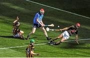 6 July 2014; Colm Cronin, Dublin, has his shot saved by David Herity, Kilkenny. Leinster GAA Hurling Senior Championship Final, Dublin v Kilkenny, Croke Park, Dublin. Picture credit: Dáire Brennan / SPORTSFILE