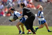 6 July 2014; Therese Scott, Monaghan, in action against Katie Daly, Armagh. TG4 Ulster GAA Ladies Football Senior Championship Final, Armagh v Monaghan, St Tiernach's Park, Clones, Co. Monaghan. Picture credit: Ramsey Cardy / SPORTSFILE