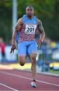 8 July 2014; Mark Lewis Francis, Great Britain, in action during the Men's 100m. Cork City Sports 2014, CIT, Bishopstown, Cork. Picture credit: Brendan Moran / SPORTSFILE