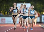 8 July 2014; Heather Kampf, 62, USA, on her way to winning the Women's 800m ahead of second place Angela Smit, 76, New Zealand, and Selina Buchel, 65, Switzerland. Cork City Sports 2014, CIT, Bishopstown, Cork. Picture credit: Brendan Moran / SPORTSFILE
