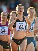 8 July 2014; Heather Kampf, USA, on her way to winning the Women's 800m. Cork City Sports 2014, CIT, Bishopstown, Cork. Picture credit: Brendan Moran / SPORTSFILE