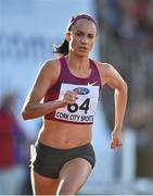 8 July 2014; Laura Crowe, Ireland, in action during the Women's 800m. Cork City Sports 2014, CIT, Bishopstown, Cork. Picture credit: Brendan Moran / SPORTSFILE
