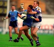 18th July 1999; Enda Sheehy of Dublin in action against Patrick Conway of Laois during the Bank of Ireland Leinster Football Championship Semi Final Replay between Dublin and Laois at Croke Park in Dublin. Photo by Damien Eagers/Sportsfile