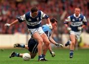 18th July 1999; Ian Fitzgerald of Laois in action against Paddy Christie of Dublin during the Bank of Ireland Leinster Football Championship Semi Final Replay between Dublin and Laois at Croke Park in Dublin. Photo by Damien Eagers/Sportsfile