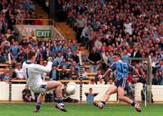 18th July 1999; Action during the Bank of Ireland Leinster Football Championship Semi Final Replay between Dublin and Laois at Croke Park in Dublin. Photo by Jim Mahon/Sportsfile