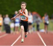 13 July 2014; Niamh Foley from St.Mary's AC, Co. Limerick, on her way to winning the girls under-13 80m. GloHealth Juvenile Track and Field Championships, Tullamore Harriers AC, Tullamore, Co. Offaly. Picture credit: Matt Browne / SPORTSFILE