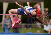 13 July 2014; Summer Lecky from Finn Valley AC, Co. Donegal, who came joint 2nd in the girls under-15 high jump. GloHealth Juvenile Track and Field Championships, Tullamore Harriers AC, Tullamore, Co. Offaly. Picture credit: Matt Browne / SPORTSFILE