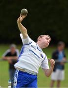 13 July 2014; John Joe Kelly, from Brow Rangers AC, Co Kilkenny, in action during the boys under-18 shot putt. GloHealth Juvenile Track and Field Championships, Tullamore Harriers AC, Tullamore, Co. Offaly. Picture credit: Matt Browne / SPORTSFILE