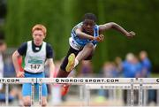 13 July 2014; Toriq Adegoke from St Laurence O Tooles, AC, Co. Carlow, who came second in the boys under-14 hurdles. GloHealth Juvenile Track and Field Championships, Tullamore Harriers AC, Tullamore, Co. Offaly. Picture credit: Matt Browne / SPORTSFILE