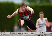 13 July 2014; Daniel Ryan from Moycarkey Coolcroo AC, Co. Tipperary on his way to winning the boys under-16 100m hurdles. GloHealth Juvenile Track and Field Championships, Tullamore Harriers AC, Tullamore, Co. Offaly. Picture credit: Matt Browne / SPORTSFILE