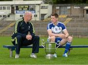 15 July 2014; Monaghan manager Malachy O'Rourke and captain Conor McManus in attendance at an Ulster Senior Football Championship Final press conference.  St Tiernach's Park, Clones, Co. Monaghan. Picture credit: Oliver McVeigh / SPORTSFILE