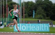 19 July 2014; Fionnuala Britton, Kilcoole AC, Wicklow, on her way to winning the Women's 5000m Final. GloHealth Senior Track and Field Championships, Morton Stadium, Santry, Co. Dublin. Picture credit: Brendan Moran / SPORTSFILE