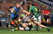 20 July 2014; Paul Flynn, Dublin, in action against from right, Donal Keogan, Michael Burke and Brian Meade, Meath. Leinster GAA Football Senior Championship Final, Dublin v Meath, Croke Park, Dublin. Picture credit: Ashleigh Fox / SPORTSFILE