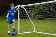 23 August 2006; Dylan Murray, age 8, from Lucan, Dublin, one of two winners of the 'Pepsi Dream Prize' - the chance to meet international footballing hero Thierry Henry, a competition run in conjunction with the Pepsi FAI Summer Soccer Schools. The other winner was Josh Lydon, age 8, from Galway, who was unable to make the photocall. St. Stephens Green, Dublin. Picture credit: Brendan Moran / SPORTSFILE