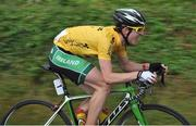 20 July 2014; Overall winner Eddie Dunbar, Team Ireland, in action during Stage 6 of the 2014 International Junior Tour of Ireland, Ennis - Ennis, Co. Clare. Picture credit: Stephen McMahon / SPORTSFILE