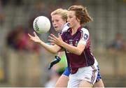20 July 2014; Ailish Morrissey, Galway, in action against Katie Duggan Sullivan, Waterford. All-Ireland U14 'B' Ladies Football Championship Final, Galway v Waterford, MacDonagh Park, Nenagh, Co. Tipperary. Picture credit: Matt Browne / SPORTSFILE