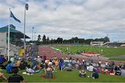 20 July 2014; A general view of the crowd watching a race at Morton Stadium. GloHealth Senior Track and Field Championships, Morton Stadium, Santry, Co. Dublin. Picture credit: Brendan Moran / SPORTSFILE