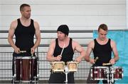 20 July 2014; A band entertains the crowd at Morton Stadium. GloHealth Senior Track and Field Championships, Morton Stadium, Santry, Co. Dublin. Picture credit: Brendan Moran / SPORTSFILE