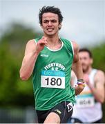20 July 2014; Thomas Barr, Ferrybank AC, Waterford, on his way to winning the Men's 400m Hurdles. GloHealth Senior Track and Field Championships, Morton Stadium, Santry, Co. Dublin. Picture credit: Brendan Moran / SPORTSFILE