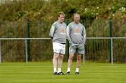 31 August 2006; Republic of Ireland manager Steve Staunton with senior team coach Kevin McDonald, right, during squad training. Malahide FC, Malahide, Dublin. Picture credit: David Maher / SPORTSFILE