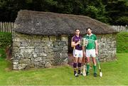 24 July 2014; In attendance at the launch of 2014 GAA Hurling Championship All-Ireland Series are Eanna Martin, left, Wexford, and Paudie O'Brien, Limerick. Craggaunowen, Co. Clare. Picture credit: Brendan Moran / SPORTSFILE