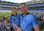 20 July 2014; Alan Brogan, Dublin, with his son Jamie, aged 5, after the game. Leinster GAA Football Senior Championship Final, Dublin v Meath, Croke Park, Dublin. Picture credit: Ray McManus / SPORTSFILE