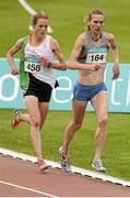 19 July 2014; Maria McCambridge, right, Dundrum South Dublin A.C, and Fionnuala Britton, Kilcoole A.C, during the Women's 5000m Final. GloHealth Senior Track and Field Championships, Morton Stadium, Santry, Co. Dublin. Picture credit: Piaras O Midheach / SPORTSFILE