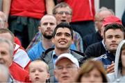 24 July 2014; Former Sligo Rovers player and current Leitrim captain Emlyn Mulligan looks on during the game. UEFA Champions League, Second Qualifying Round, Second Leg, Sligo Rovers v Rosenborg, Showgrounds, Sligo. Picture credit: David Maher / SPORTSFILE