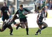 8 September 2006; Matt Mostyn, Connacht, is tackled by Sonny Parker, Ospreys. Magners Celtic League 2006 - 2007, Connacht v Ospreys, Sportsground, Galway. Picture credit; Ray Ryan / SPORTSFILE