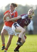 9 September 2006; Shauna O'Hagan, Armagh, in action against Caitriona Cormican, Galway, TG4 Ladies All-Ireland Senior Football Championship Semi-Final, Galway v Armagh, Dr Hyde Park, Co. Roscommon. Picture credit: Damien Eagers / SPORTSFILE