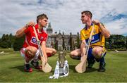 28 July 2014; Cork's Alan Cadogan and Clare's Colm Galvin, both Bord Gáis Energy Ambassadors, met on neutral territory today at Adare Manor, County Limerick, ahead of Wednesday's Bord Gáis Energy GAA Hurling U-21 Munster Championship Final at Cusack Park in Ennis. The match will be shown live on TG4 from 7.15pm with fans able to vote for their Man of the Match using the #LaochBGE hashtag on twitter. Adare Manor, Limerick Road, Adare, Co. Limerick. Picture credit: Diarmuid Greene / SPORTSFILE