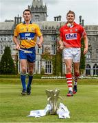 28 July 2014; Clare's Colm Galvin and Cork's Alan Cadogan, both Bord Gáis Energy Ambassadors, met on neutral territory today at Adare Manor, County Limerick, ahead of Wednesday's Bord Gáis Energy GAA Hurling U-21 Munster Championship Final at Cusack Park in Ennis. The match will be shown live on TG4 from 7.15pm with fans able to vote for their Man of the Match using the hBGE hashtag on twitter. Adare Manor, Limerick Road, Adare, Co. Limerick. Picture credit: Diarmuid Greene / SPORTSFILE