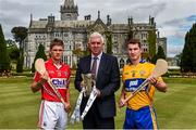 28 July 2014; Ger Cunningham, Bord Gáis Energy Sports Ambassador, along with Cork's Alan Cadogan and Clare's Colm Galvin, both Bord Gáis Energy Ambassadors, met on neutral territory today at Adare Manor, County Limerick, ahead of Wednesday's Bord Gáis Energy GAA Hurling U-21 Munster Championship Final at Cusack Park in Ennis. The match will be shown live on TG4 from 7.15pm with fans able to vote for their Man of the Match using the hBGE hashtag on twitter. Adare Manor, Limerick Road, Adare, Co. Limerick. Picture credit: Diarmuid Greene / SPORTSFILE