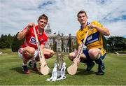 28 July 2014; Cork's Alan Cadogan and Clare's Colm Galvin, both Bord Gáis Energy Ambassadors, met on neutral territory today at Adare Manor, County Limerick, ahead of Wednesday's Bord Gáis Energy GAA Hurling U-21 Munster Championship Final at Cusack Park in Ennis. The match will be shown live on TG4 from 7.15pm with fans able to vote for their Man of the Match using the hBGE hashtag on twitter. Adare Manor, Limerick Road, Adare, Co. Limerick. Picture credit: Diarmuid Greene / SPORTSFILE