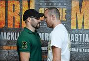 30 July 2014; Boxer Gary 'Spike' O'Sullivan, left, and Anthony Fitzgerland after a press conference ahead of their upcoming bout on Saturday the 30th of August. Croke Park, Dublin. Picture credit: Ramsey Cardy / SPORTSFILE